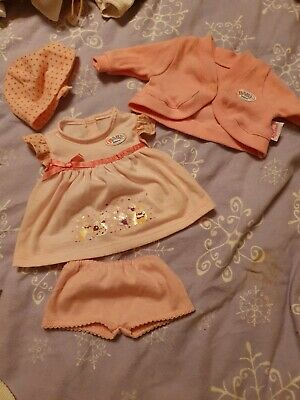 ZAPF Baby Born OUTFIT BUNDLE. Over 10 outfits ++ extras inc coathangers
