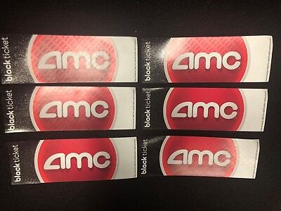 6 AMC Theater Black Movie Tickets - No Expiration