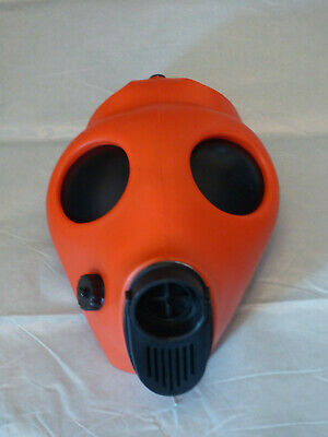 RED Fetish Rubber Blindfold Gas Mask Gummi Bondage respirator black out lemses