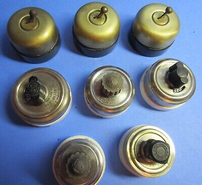 8 Vintage Rotory Switchs 3 Hubbell, 4 Ge, 1 Arrow