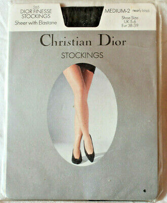 Christian Dior Finesse Sheer stockings Medium-2 Nearly Black