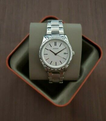Fossil Silver-Tone Stainless Steel Watch Bq3373