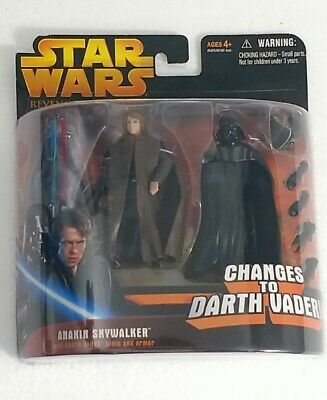 Star Wars Anakin Changes to Darth Vader deluxe Revenge of the Sith Hasbro NEW