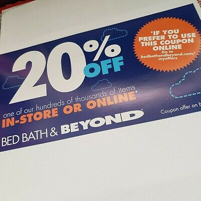 Bed Bath and Beyond 20% Off One Item Coupon In Store or Online EXP 12/26/2019