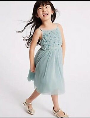 🎄 BNWTS Girls Dress Marks & Spencer Age 5-6  Party Elsa frozen special occasion
