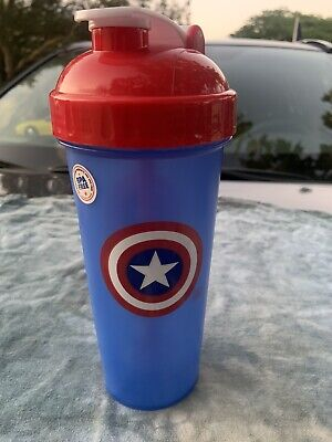PerfectShaker Hero Series Captain America Shaker Cup (Large 28oz) Marvel Soldier