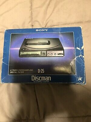 Sony Discman D-25 CD Player Digital Comes with rechargeable battery & More