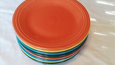 Fiestaware mixed colors Dinner Plate Lot of 8 Fiesta 10.5 inch plates