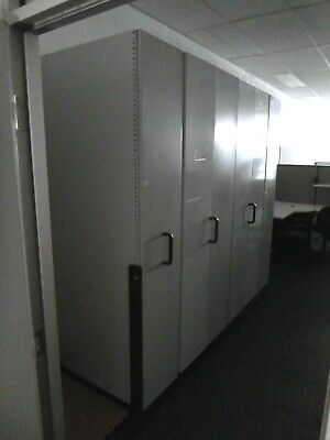 Home / Office 6 Bay Compactus on Base Light Grey Metal 40537/1