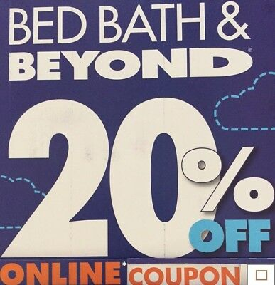 1- Bed Bath Beyond 20% off 1 Item *** Online Coupon *** Exp 1/6/20
