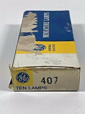 Nos Ge 407 Ge407 General Electric * (10) Miniature Lamps New