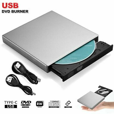 External USB 2.0 Drive DVD CD Burner Copier Writer Reader Player for Windows Mac