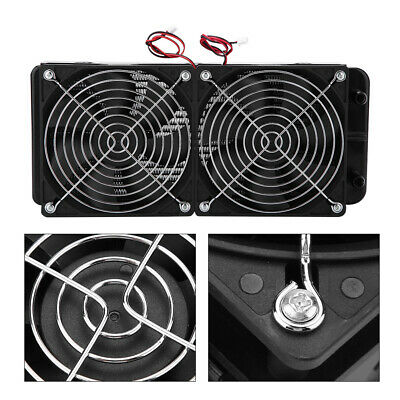 240mm 18 Tubes Computer Water Cooling w/ 2 Radiator Cooler Fan for CPU Heat Sink