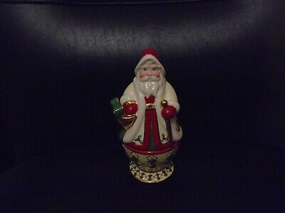 Waterford Holiday Heirlooms Victorian Santa Claus Candle Holder With Candle