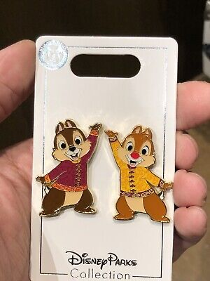 Disney Parks Shanghai 2019 Chip & Dale Tai Chi Collection Trading Pins