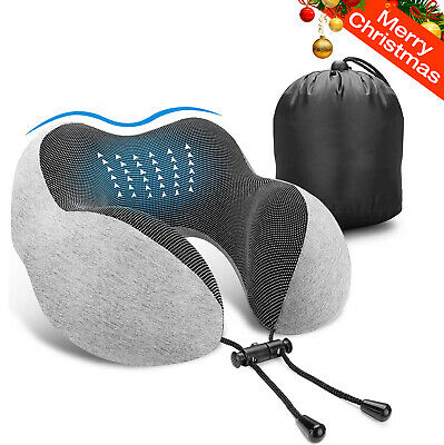 Memory Foam U-shaped Travel Pillow for Airplane Sleeping Rest Car Home Use New