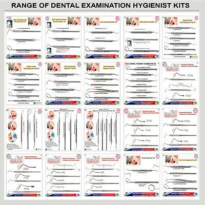 Basic Dental Examination Kits Pocket Depth Probes Diagnostic Explorers Scalers