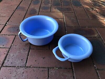 Vintage Blue Plastic Potty x2 1960's
