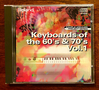 "Roland Sample Archives L-CDP-09 ""Keyboards of the 60s & 70s Vol.1"" CD ROM"