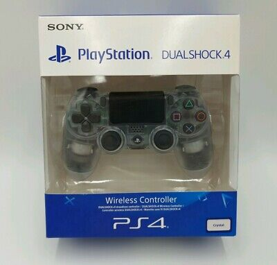 Official Sony PlayStation 4 CRYSTAL CLEAR DualShock Wireless Controller  PS4 NEW
