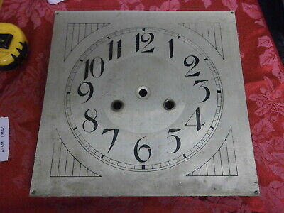 Clock DIAL German Deco silver finish Arabic Nums. wall parts spares 549A