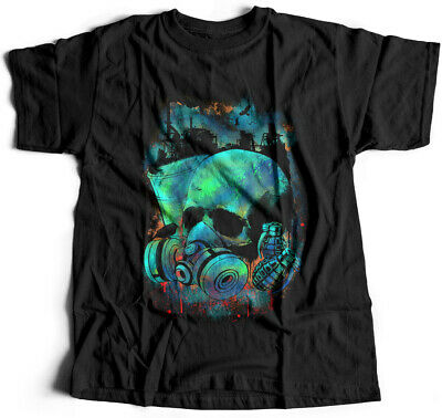 Infection Army T-Shirt Skull Mask Military War Peace Base Soldier Proud E039