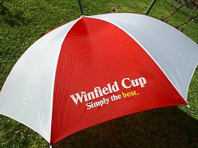 Large Vintage WINFIELD CUP CIGARETTE Advertising  Umbrella  Rugby Cup