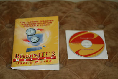 Restore IT! 3 Deluxe CD ROM Disk with User manual