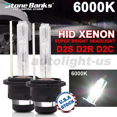 55W 6000K D2S D2R D2C HID Xenon Bulbs Replace Factory Headlight Pair Replacement