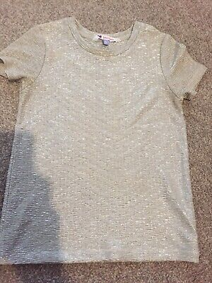 girls Grey/silver Sparkly Top Age 5 John Lewis