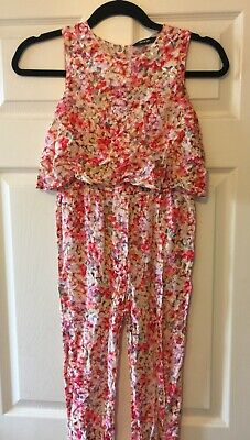 Girls floral jumpsuit from GEORGE ASDA. size 8-9 years