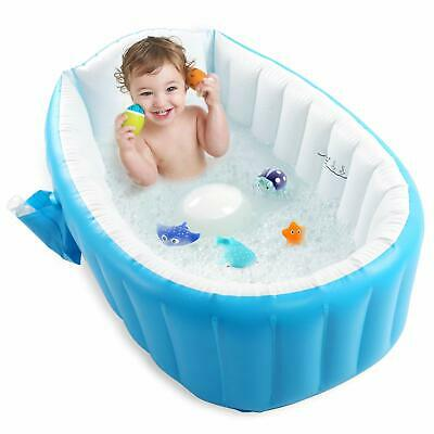 Newborn Baby Inflatable Bathtub Kids Air Swimming Pool Thick Foldable Anti-slip