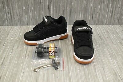 Heelys Plus X2 Youth Lighted Skate Sneaker - Choose Your Size, Black