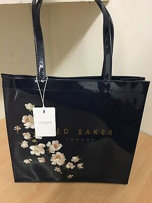 New Ted Baker Soft Large Baxtcon Pearl Navy Icon Bag 100339