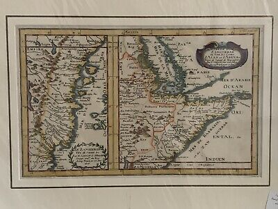Antique Map of Zanzibar and the East African Coast by N. Sanson, circa 1656