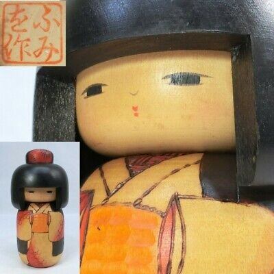 Creative KOKESHI Doll Tomidokoro Fumio 富所ふみを Japanese traditional crafts 21.5cm