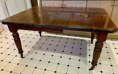 Antique Victorian Extendable Mahogany Dining Table