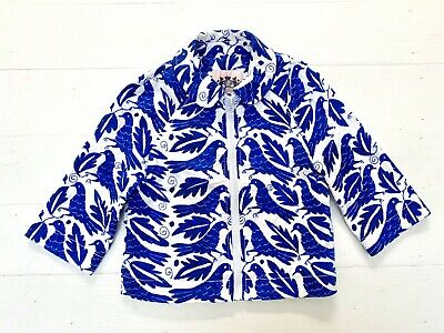 Girls age 6 Juicy Couture Jacket Coat Lagoon Blue Birds Immaculate