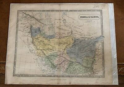 19th Century George Philip & Son Map Of Persia & Cabool
