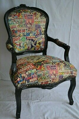 """LOUIS XV ARM CHAIR FRENCH STYLE CHAIR VINTAGE FURNITURE  /""""MARVEL/"""""""