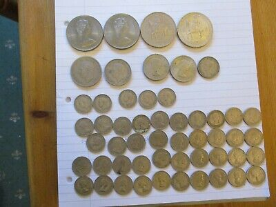 Job Lot of Mixed UK Coins, Crowns, 1/2 Crown, 2 Shillings, 1 Shilling, 6 pences