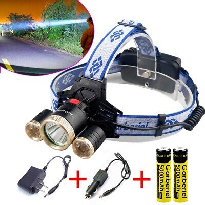 900000Lumen 3 x T6 LED Headlamp Rechargeable 18650 Headlight Head Torch Light US