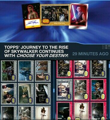 Topps Star Wars Card Trader Journey Rise of Skywalker Silver & Ruby Wave 2 LOT