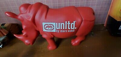 MARC ECKO Rhino UNLTD Rhinoceros Red Plastic Shop Figure Store Display Vinyl/PVC