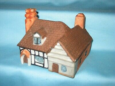German china - Bisque Timbered Cottage