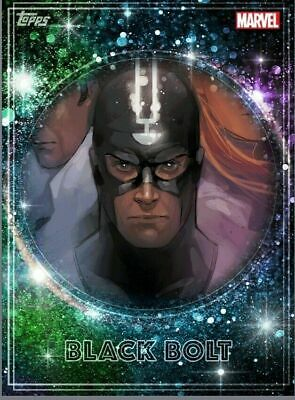Topps Marvel Collect Card Trader Royalty Inhumans RARE Tilt King Black Bolt