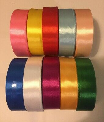 32 Metres ! Satin Ribbon Rolls Reels -25mm-12mm- 6mm, Widths Double Sided