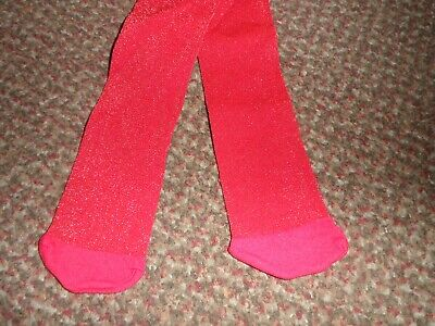 new Girls TU red glittery party Tights 3-4 YEARS - BNWOT - glitter