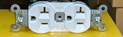5362W Hubbel WIRE DUPLEX RECEPTACLE Outlet 20A 125V S&B WIRE 22103549 Lot of 10