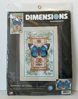 Dimensions Needlepoint Kit Butterfly On Scroll Beauty Kit #20006 Craft NEW
